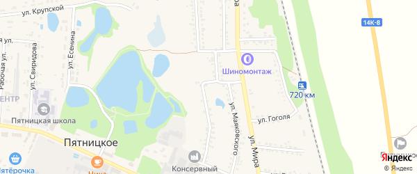 Садовая улица на карте поселка Пятницкого с номерами домов
