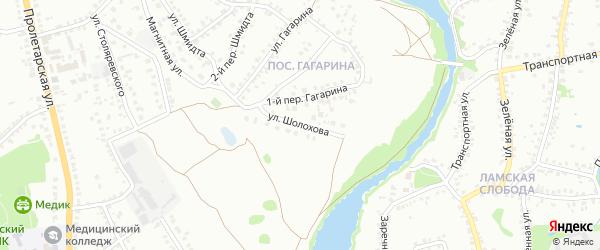 Улица Шолохова на карте Старого Оскола с номерами домов