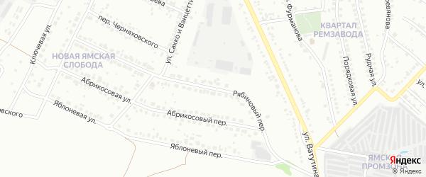 Рябиновый переулок на карте Старого Оскола с номерами домов