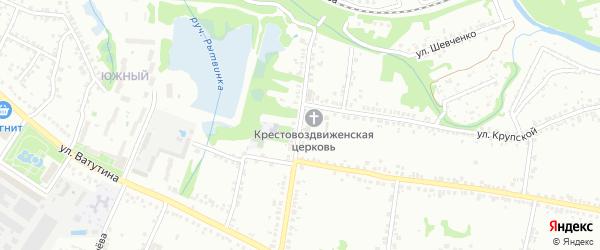 Улица Зои Космодемьянской на карте Старого Оскола с номерами домов