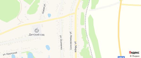 Улица Маяковского на карте поселка Пятницкого с номерами домов