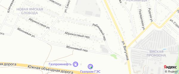 Абрикосовый переулок на карте Старого Оскола с номерами домов