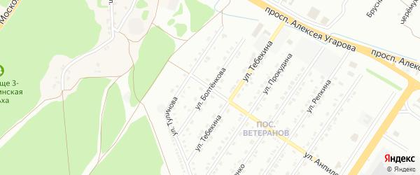Улица Болтенкова на карте Старого Оскола с номерами домов