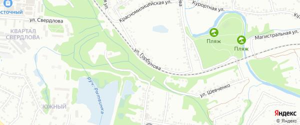 Улица Горбунова на карте Старого Оскола с номерами домов