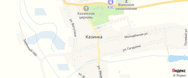 Заречный переулок на карте села Казинки с номерами домов