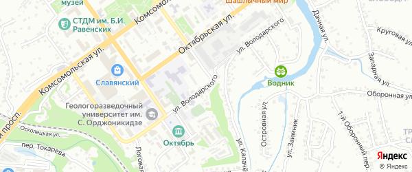 Улица Володарского на карте Старого Оскола с номерами домов