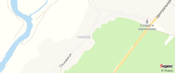 Сосновая улица на карте села Окуни с номерами домов