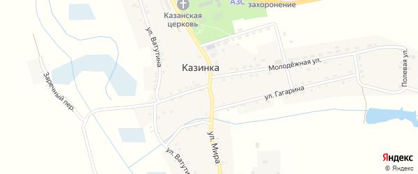 Улица Мира на карте села Казинки с номерами домов