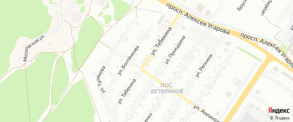 Улица Тебекина на карте Старого Оскола с номерами домов