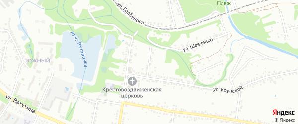 1-й Крупской переулок на карте Старого Оскола с номерами домов