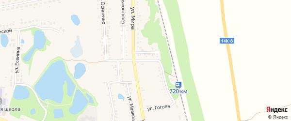 Переулок Ватутина на карте поселка Пятницкого с номерами домов