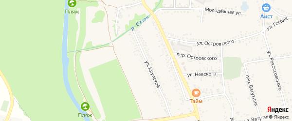 Улица Крупской на карте поселка Волоконовки с номерами домов