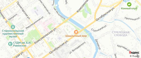Квартал Старая мельница на карте Старого Оскола с номерами домов