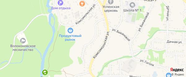 Улица Ворошилова на карте поселка Волоконовки с номерами домов