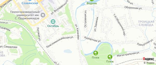 Улица Калачева на карте Старого Оскола с номерами домов