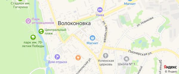 Улица Лавренова на карте поселка Волоконовки с номерами домов