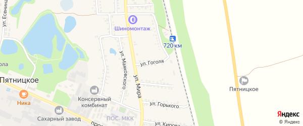 Улица Гоголя на карте поселка Пятницкого с номерами домов