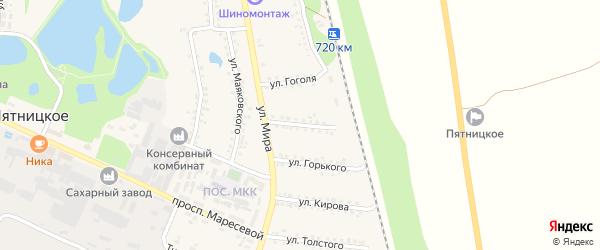 Улица Пушкина на карте поселка Пятницкого с номерами домов