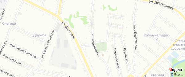 Улица Фурманова на карте Старого Оскола с номерами домов