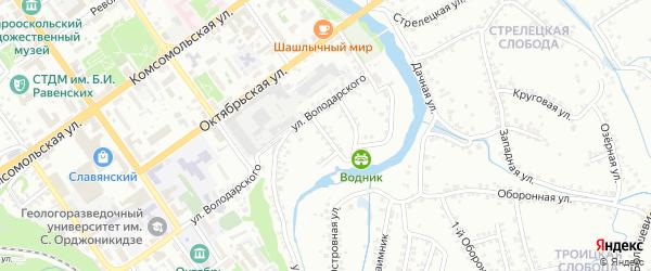 Переулок Володарского на карте Старого Оскола с номерами домов