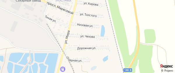 Улица Чехова на карте поселка Пятницкого с номерами домов