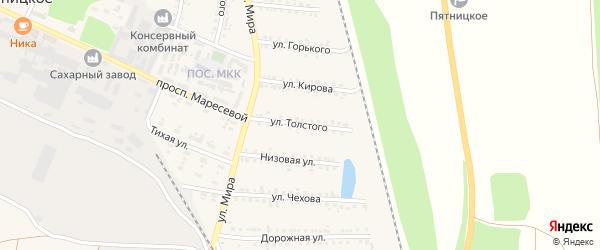 Улица Толстого на карте поселка Пятницкого с номерами домов