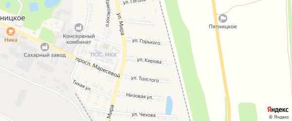 Улица Кирова на карте поселка Пятницкого с номерами домов