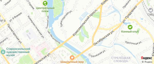 Комсомольский проспект на карте Старого Оскола с номерами домов