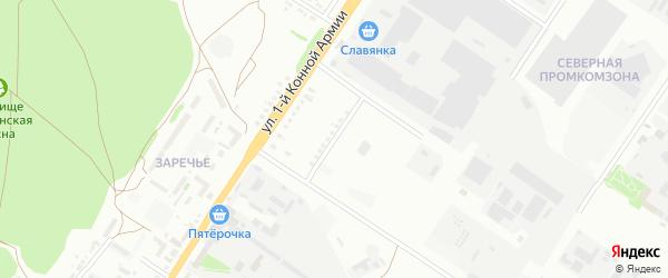 Улица Богдана Хмельницкого на карте Старого Оскола с номерами домов