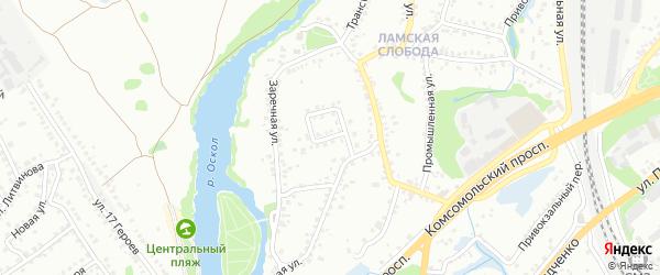 Железнодорожная улица на карте Старого Оскола с номерами домов