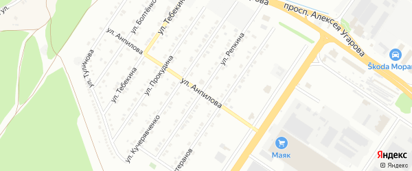Улица Репкина на карте Старого Оскола с номерами домов
