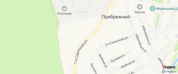 1-я Совхозная улица на карте Прибрежного поселка с номерами домов