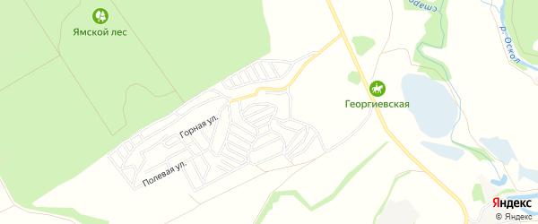 СТ Золотая Нива на карте Старооскольского района с номерами домов