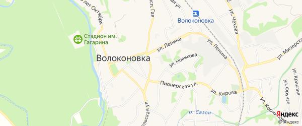 Карта территории Биотехнологического центра в Белгородской области с улицами и номерами домов