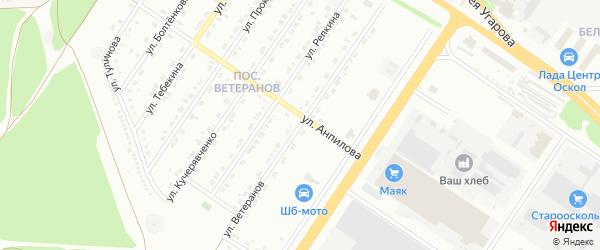 Улица Ветеранов на карте Старого Оскола с номерами домов