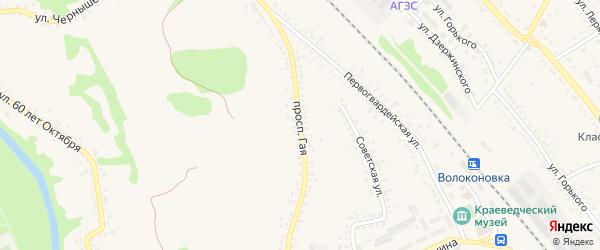 Проспект Гая на карте поселка Волоконовки с номерами домов