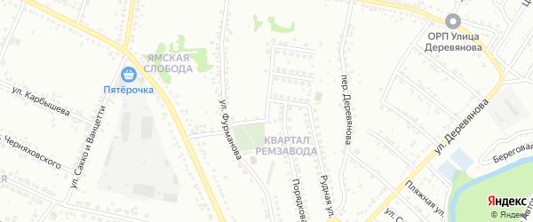 Переулок Фурманова на карте Старого Оскола с номерами домов