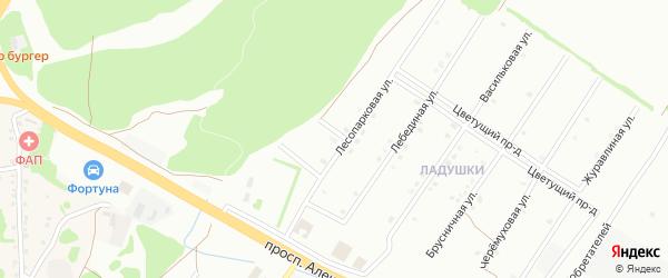 1-й Лесопарковый переулок на карте Старого Оскола с номерами домов