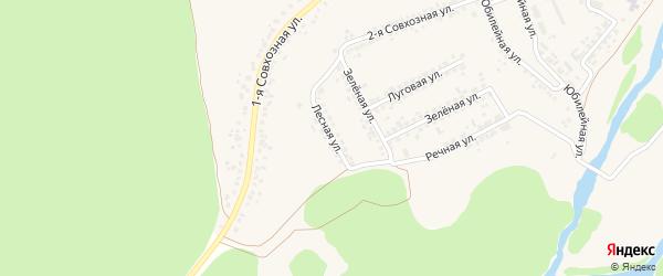 Лесная улица на карте Прибрежного поселка с номерами домов