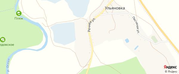 Речная улица на карте хутора Ульяновки с номерами домов