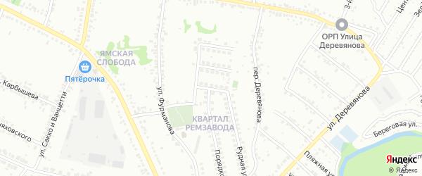 Порядковый переулок на карте Старого Оскола с номерами домов
