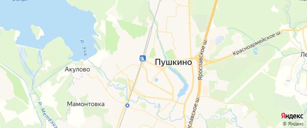 Карта Пушкино с районами, улицами и номерами домов