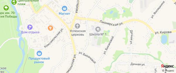 Улица Володарского на карте поселка Волоконовки с номерами домов