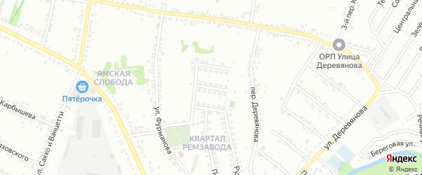 Рудный переулок на карте Старого Оскола с номерами домов
