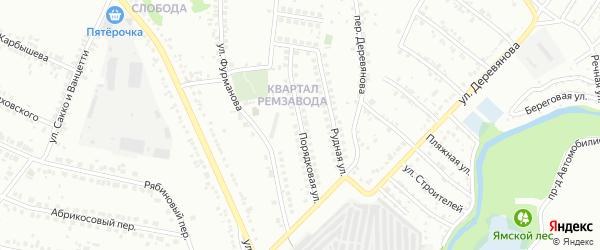 Порядковая улица на карте Старого Оскола с номерами домов