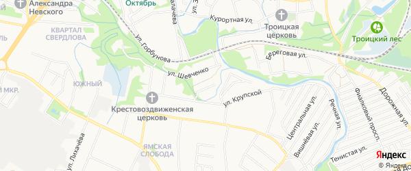 СНТ День Победы на карте Старого Оскола с номерами домов