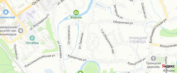 Офицерская улица на карте Старого Оскола с номерами домов