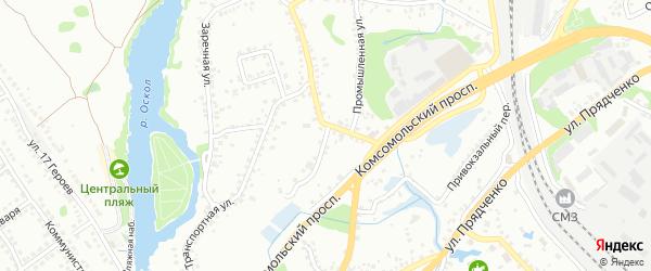 Транспортный переулок на карте Старого Оскола с номерами домов