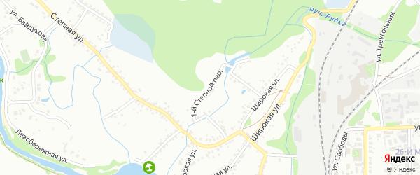 1-й Степной переулок на карте Старого Оскола с номерами домов