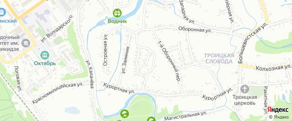 Улица Чайковского на карте Старого Оскола с номерами домов
